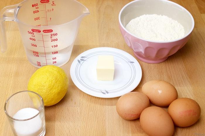 Ingredientes para la receta de los Buñuelos de Viento