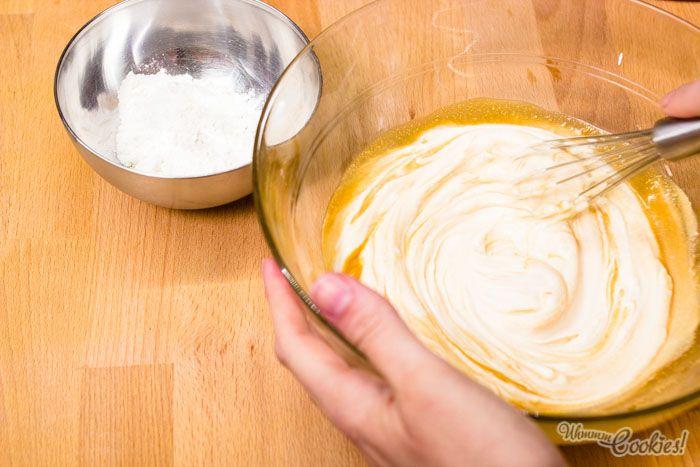 Mezcla de los ingredientes para nuestra New York Cheesecake