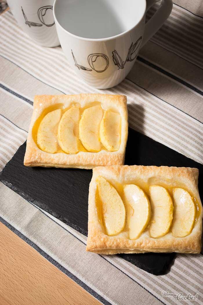 Receta de la auténtica Tarta de Manzana y Hojaldre.