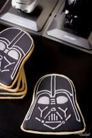La galleta de Darth Vader del lado oscuro del horno