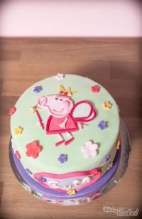 «Peppa Pig», la tarta de cumpleños más marrana